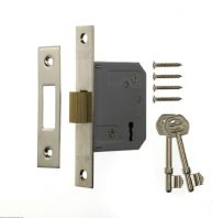 "Era 3 Lever Deadlock 3"" Chrome Effect - Chrome Eff 76mm"